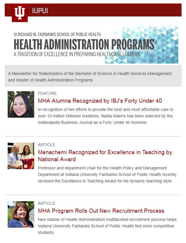 Health Administration Newsletters Health Policy Management