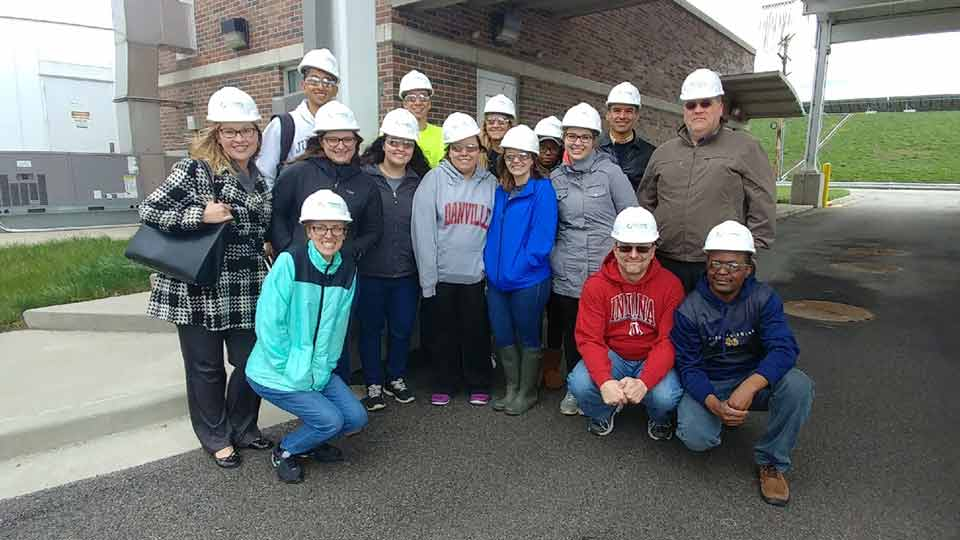 Environmental Health Science students touring an occupational health and safety site.